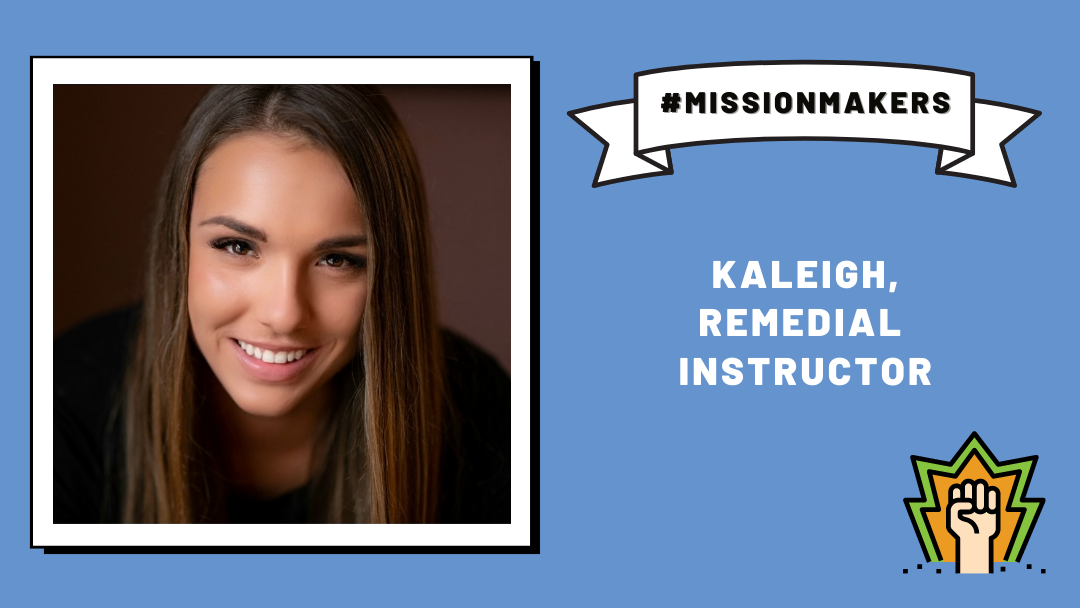 Mission Makers: Kaleigh—providing play-based and arts-informed teaching